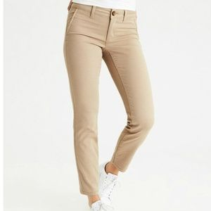 American Eagle SKINNY Khaki Chino Pants 4 X-Long